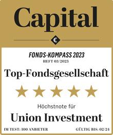 Auszeichnung Capital Höchstnote als Top-Fondsgesellschaft